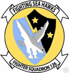 STICKER USN VF 126 FIGHTER SQUADRON SEA HAWKS
