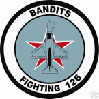 STICKER USN VF 126 FIGHTER SQUADRON BANDITS
