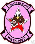 STICKER USN VF 126 FIGHTER SQUADRON BAD GUYS