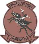 STICKER USN VF 114 FIGHTER SQUADRON