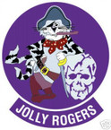STICKER USN VF 103 FIGHTER SQUADRON JOLLY ROGERS