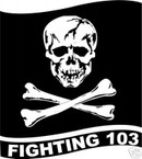 STICKER USN VF 103 FIGHTER SQUADRON JOLLY ROGER