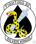 STICKER USN VF  92 FIGHTER SQUADRON SILVER KINGS