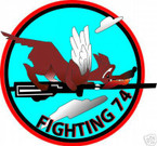 STICKER USN VF  74 FIGHTER SQUADRON FIGHTING