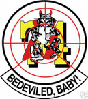 STICKER USN VF  74 FIGHTER SQUADRON BEDEVILED