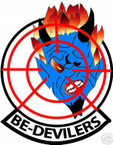 STICKER USN VF  74 FIGHTER SQUADRON BE DEVILERS