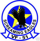 STICKER USN VF  51 FIGHTER SQUADRON SCREAMING EAGLES