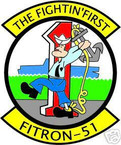 STICKER USN VF  51 FIGHTER SQUADRON FITRON