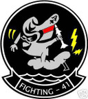 STICKER USN VF  41 FIGHTER SQUAD BLACK ACES