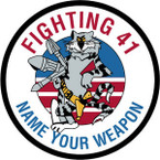STICKER USN VF  41 FIGHTER SQUAD NAME UR WEAPON