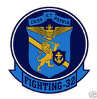 STICKER USN VF  32 Strike Fighter Squadron