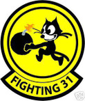 STICKER USN VF  31 FIGHTER SQUADRON FIGHTING