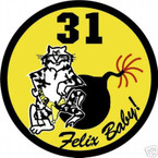STICKER USN VF  31 FIGHTER SQUADRON FELIX BABY