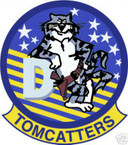 STICKER USN VF  31 FIGHTER SQUAD TOMCATTERS D