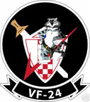 STICKER USN VF  24 FIGHTER SQUADRON RED CHECKER TOM