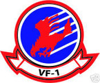 STICKER USN VF   1 FIGHTER SQUADRON HAWK 2