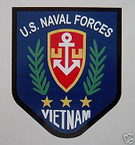 STICKER USN VET VIETNAM U S NAVAL FORCES VETERAN COLOR