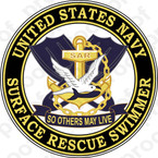 STICKER USN VET US NAVY RESCUE SWIMMER C