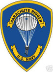 STICKER USN VET US NAVY PARACHUTE RIGGER COLOR SHIELD