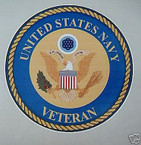 STICKER USN VET U.S. NAVY VETERAN VINYL DECAL