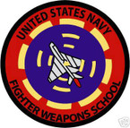 STICKER USN VET U.S. NAVY FIGHTER WEAPONS SCHOOL