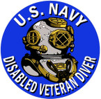 STICKER USN VET U.S. NAVY DISABLED DIVER