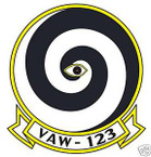 STICKER USN VAW 123 Early Warning Squadron