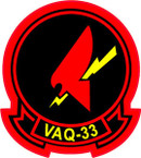 STICKER USN VAQ 33 Tactical Electronic Warfare