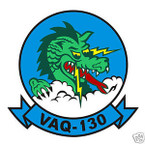 STICKER USN VAQ 130 ATTACK SQUADRON