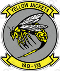 STICKER USN VAQ 138 ATTACK SQUADRON