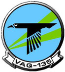 STICKER USN VAQ 135 ATTACK SQUADRON B