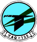 STICKER USN VAQ 135 ATTACK SQUADRON A