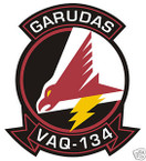 STICKER USN VAQ 134 ATTACK SQUADRON