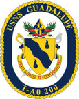 STICKER USN US NAVY T-AO 200 USS GUADALUPE