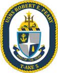 STICKER USN US NAVY T-AKE 5 USS R E PEARY