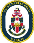 STICKER USN US NAVY T-AKE 10 USS C DREW