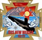 STICKER USN US NAVY SSN 79 NEW MEXICO