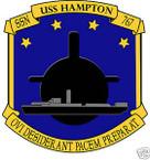 STICKER USN US NAVY SSN 767 USS HAMPTON