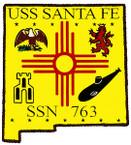 STICKER USN US NAVY SSN 763 SANTA FE SUBMARINE