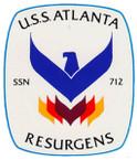 STICKER USN US NAVY SSN 712 ATLANTA SUBMARINE
