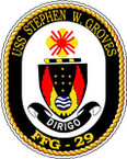 STICKER USN US NAVY FFG 29 USS S GROVES