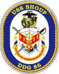 STICKER USN US NAVY DDG 86 USS SHOUP