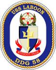 STICKER USN US NAVY DDG 58 USS LABOON