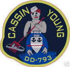STICKER USN US NAVY DD-793 USS CASSIN YOUNG