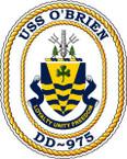 STICKER USN US NAVY DD 975 USS O BRIEN