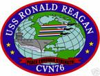 STICKER USN US NAVY CVN 76 USS RONALD REAGAN CARRIER