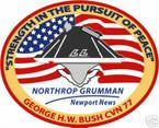 STICKER USN US NAVY CVN 77 USS GEORGE H W BUSH