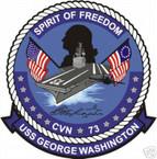 STICKER USN US NAVY CVN 73 USS GEORGE WASHINGTON