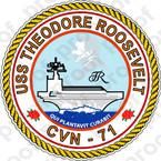 STICKER USN US NAVY CVN 71 USS THEODORE ROOSEVELT A