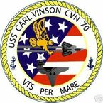 STICKER USN US NAVY CVN 70 USS CARL VINSON CARRIERb